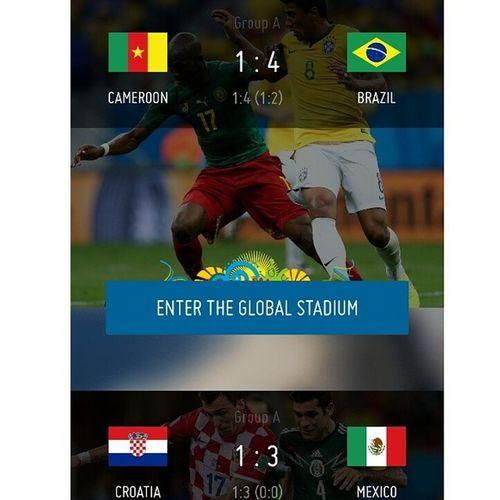 Хорватов жалко, но Мексика была лучше. Всё справедливо. Теперь мексика -голландия и Бразилия -Чили в 1/8 финала чм2014 worldcup brasil mexico croatia nederlands brazil chili brasil2014 brazil2014 хорватия