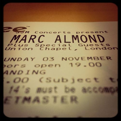 And that's the Sunday settled :-) Marc Almond