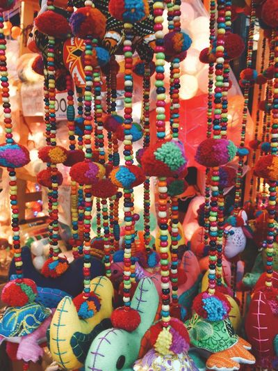 Throwback Handmade Shopping ♡ Dailylife Photo Trip Travel Vacations Thailand Bangkok Jjmarket Colorful Sky For Sale Multi Colored Retail  Abundance Choice Hanging Market Close-up Day
