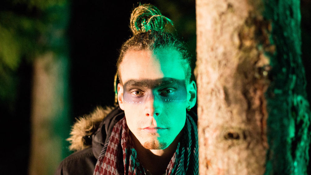 One Person Multi Colored Human Body Part Young Adult Portrait Of A Friend EyeEm Best Shots Green Color Night Magical Atmosphere Fantastic Juldem ClipVideoService Switzerland EyeEm The Portraitist - 2017 EyeEm Awards
