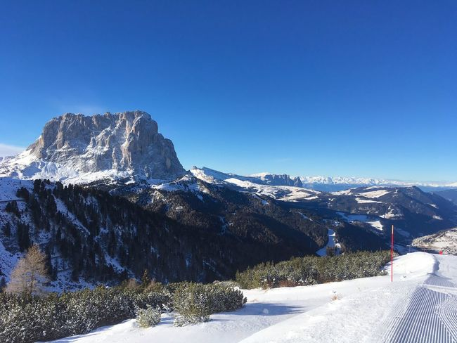Snow Mountain Winter Blue Sky Mountain View Langkofel Dolomites, Italy Sellaronda Sunny Travel Scenics Val Gardena Wintervacation Nature Tranquility Snowcapped Mountain Clear Sky Mountain Range Tranquil Scene Non-urban Scene Idyllic Landscape Outdoors Day No People