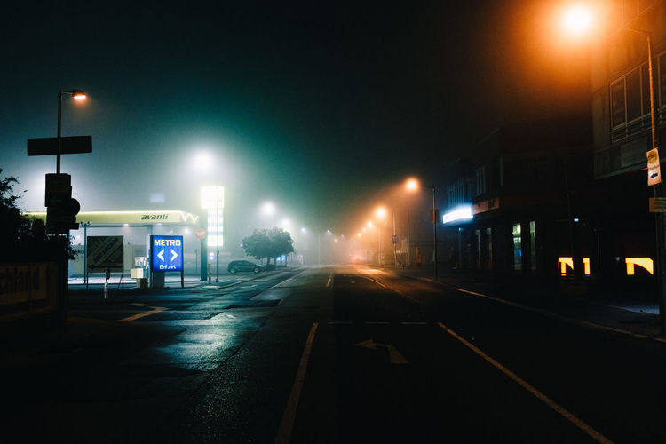 If there's fog at night, I'm out shooting Night Illuminated Street Light City Outdoors No People Fog Streetphotography Shootermag EyeEmBestPics Nightphotography Lowlight EyeEm Best Shots EyeEm Gallery