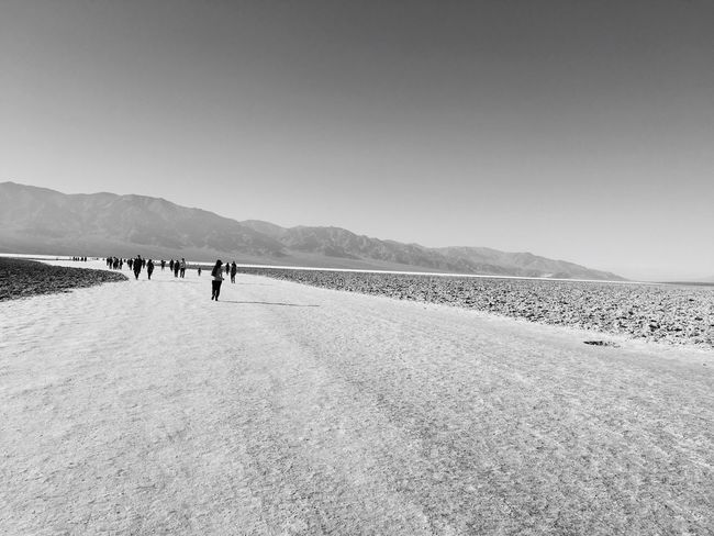 Iphonephotography Badwaterbasin Blackandwhite Saltwater Belowsealevel Backgrounds Outdoors Deathvalleynationalpark