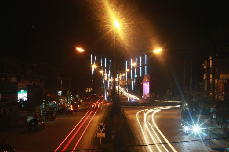 Chiang Mai | Thailand Light And Shadow Light Motion City Speed Red Road Outdoors No People