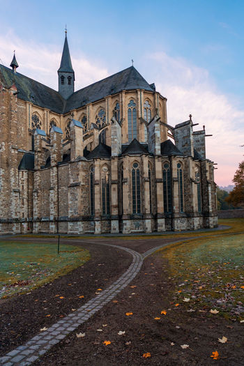 Altenberg Cathedral in autumn. Altenberg Cathedral Cathedral Autumn Altenberger Dom Altenberg Architecture Church Old Religion Cross History