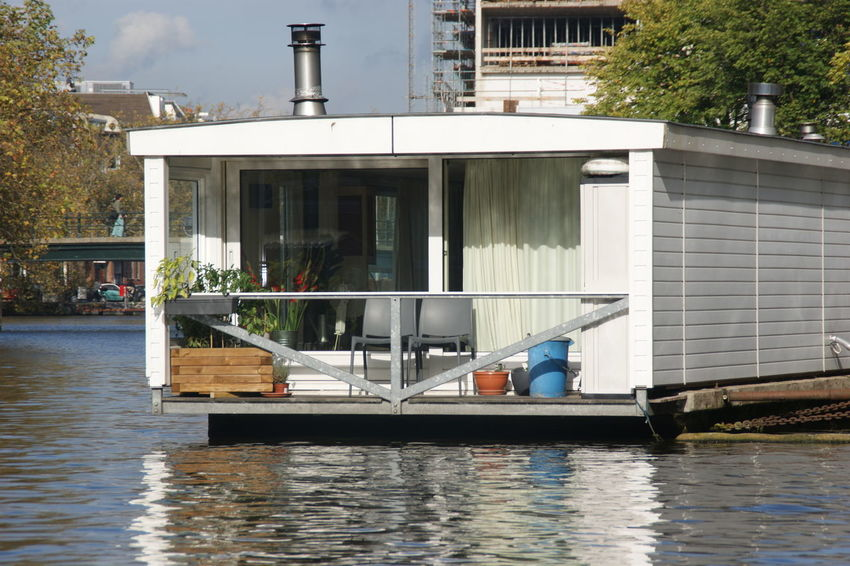 Amsterdam Architecture Building Exterior Built Structure City Day House Boat My Year My View Nautical Vessel No People Outdoors River House Tree Water