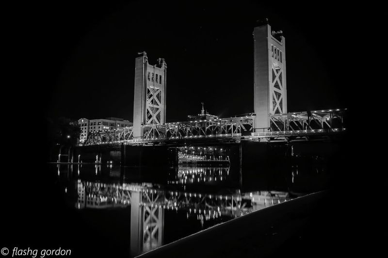 Night Water No People Built Structure Travel Destinations Outdoors Sky Architecture Nature Night Lights Nightphotography EyeEmNewHere Black & White Bridges Bridge Photography