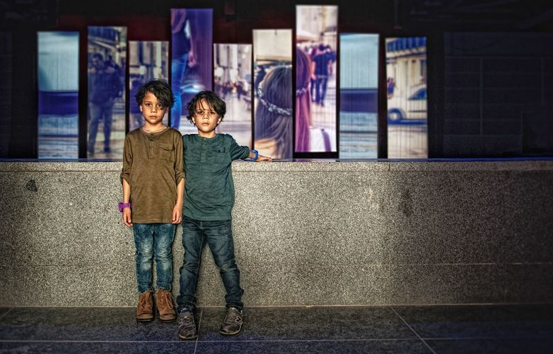 Friends Lisboa Lisbon Lennardt Thomas Boys Twins Two People Togetherness Looking At Camera Casual Clothing Boys Portrait Full Length Childhood Real People Child Standing Friendship