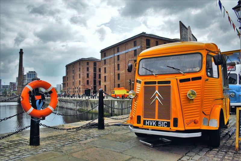 Albert Docks Docks Liverpool, England Citreon Van