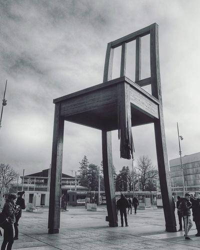 Broken Wood Chair Geneva Switzerland Europe Blackandwhite