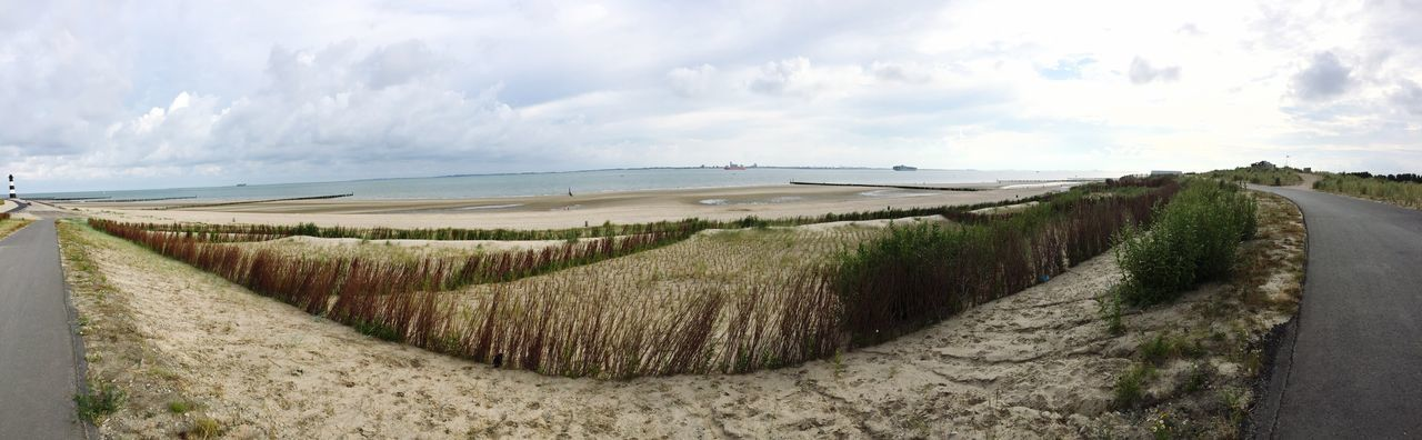 Panorama View Beach Breskens Nederland