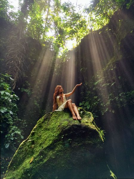 Beauty In Nature Canyon Exploring Forest Grass Green Green Color Growth Light Lush Foliage Nature Non-urban Scene Outdoors Hidden Gems  Portrait Rays Relaxation Rock - Object Rock Formation Sun Beams Sun Light Sunshine The Great Outdoors - 2016 EyeEm Awards Tranquility Tree