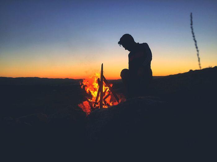 Fire of sunset.