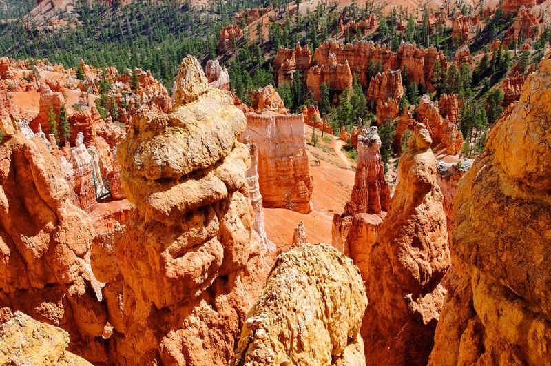 High angle view of rocks on rock