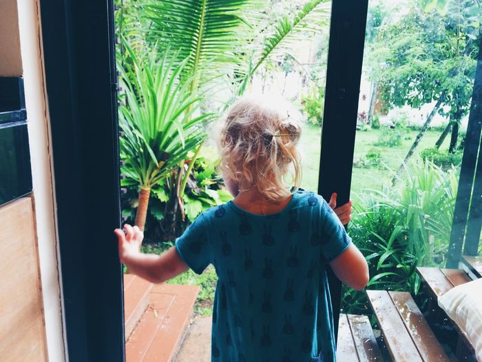 ASIA Casual Clothing Day Focus On Foreground Headshot Holiday Hotel Jungle Kid Leisure Activity Lifestyles Relaxation Sitting Thailans Tree