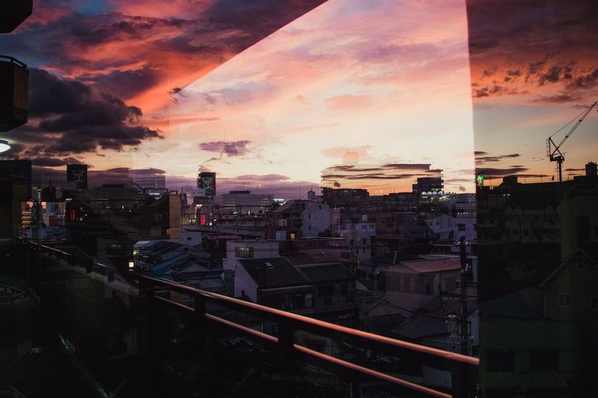 Fujifilm Double Exposure OSAKA Japan Sunset Outdoors