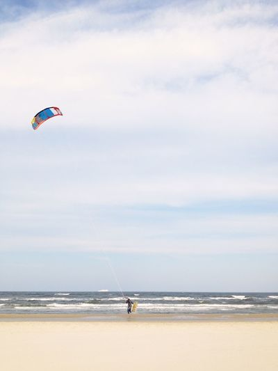 Lost In The Landscape Life Is A Beach Kite Kitesurfing Baltic Sea Sea Horizon Over Water Nature Water Beach Real People Beauty In Nature Leisure Activity Scenics Extreme Sports Outdoors Lifestyles Adventure Sport Second Acts Perspectives On Nature Be. Ready.