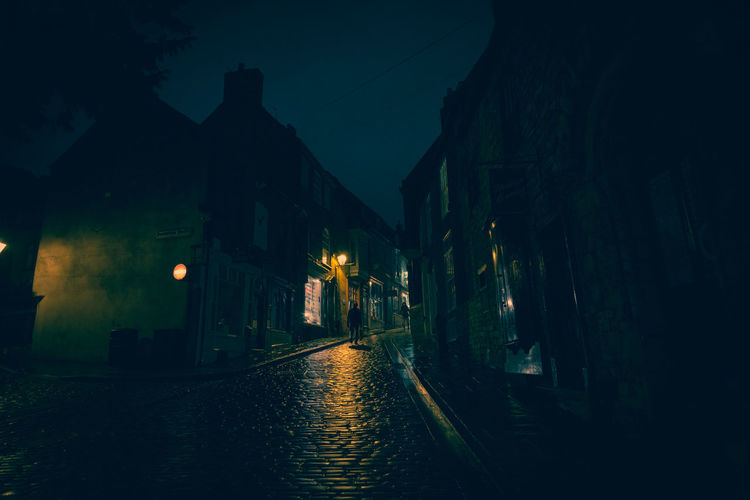 Lincoln Lincolnshire Steep Hill Architecture Building Built Structure City Dark Direction Dusk Electricity  Footpath Illuminated Nature Night No People Outdoors Residential District Street Street Light Evening Old Town