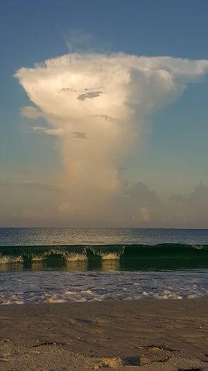 Water Sea Low Tide Sunset Wave Beach Horizon Sand Blue Summer
