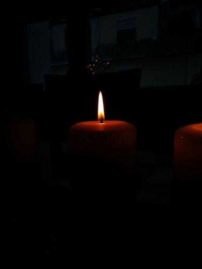 Candle Illuminated No People Burning Dark Indoors  Night Close-up Flame