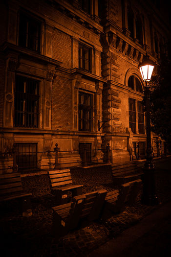 View of old building at night