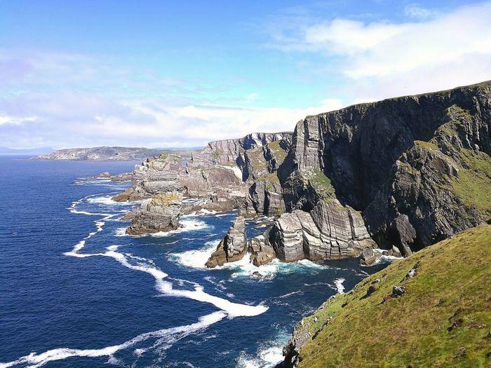 Mizen Head Mizen Head, Ireland Sea Cliff Rock Water Geology Ireland🍀 Ireland Landscapes Rocks An Eye For Travel The Traveler - 2018 EyeEm Awards