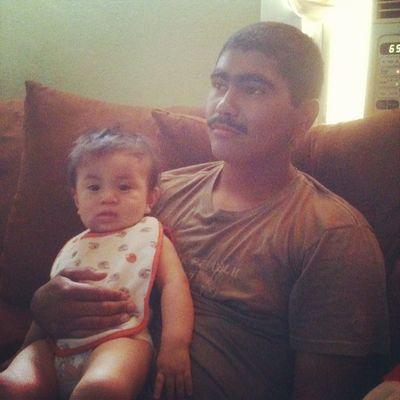 Me and my little nephew :) I'm so dark -_-