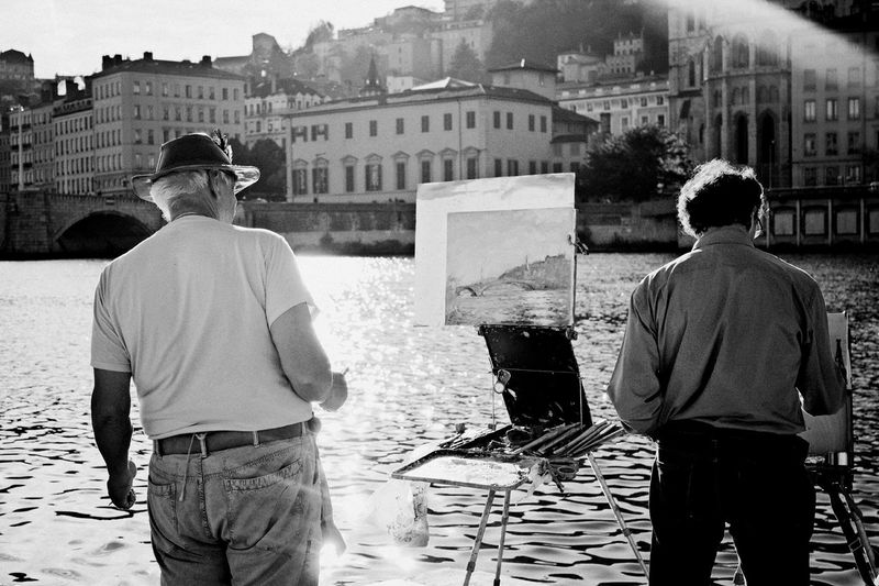 Les artistes lyonnais Artist Painting Landscape Old Cityscapes Getting Inspired Nature Passion Blackandwhite
