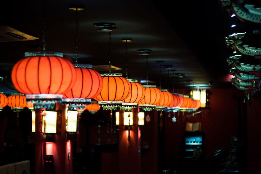 Chinese Chinese Lantern Chinese Lantern Festival Hanging Illuminated Indoors  Lantern Night No People Restaraunt