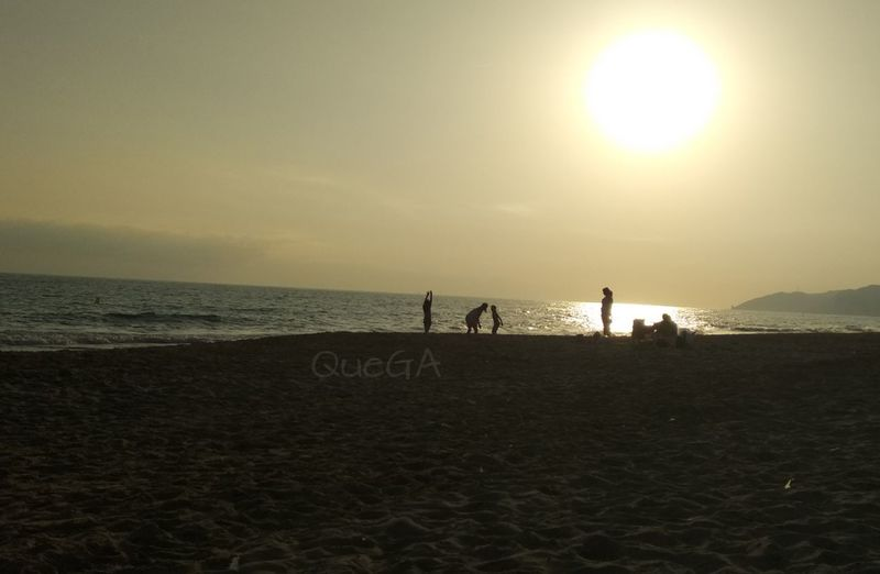 Sunset Beach Sand Sea Silhouette Sunset Sky Sun Horizon Over Water Beauty In Nature Nature Taking Photos Eyem Best Shot - My World Mobilephotography From My Point Of View Lights And Silhouettes Landscape Atardecer En La Playa Moments Of Life Atardecer No Filter nofilternoedit