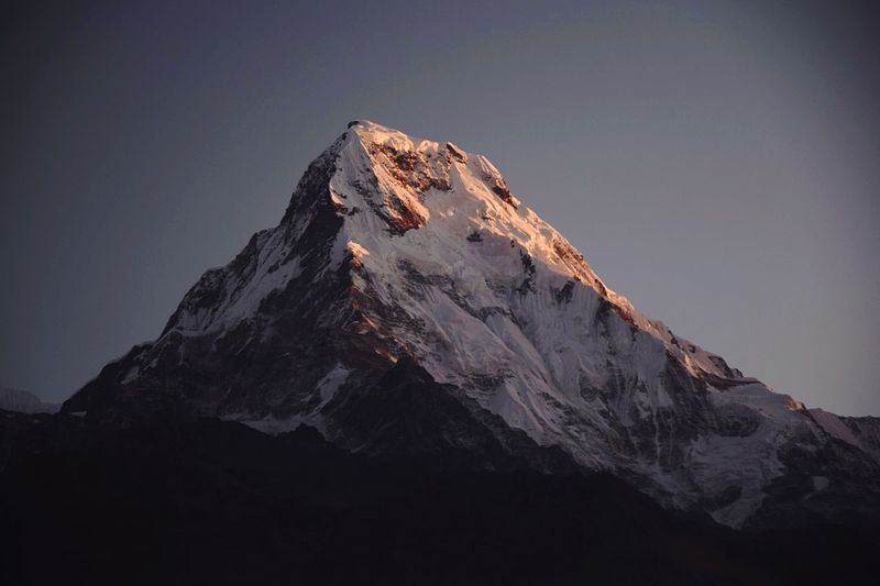 The summit. Nepal Himalayas Mountain Beauty In Nature Sky Nature Rock Scenics - Nature No People Tranquility Mountain Peak Mountain Range Tranquil Scene Low Angle View Solid Rock - Object Non-urban Scene Snow Winter Outdoors Rock Formation Cold Temperature