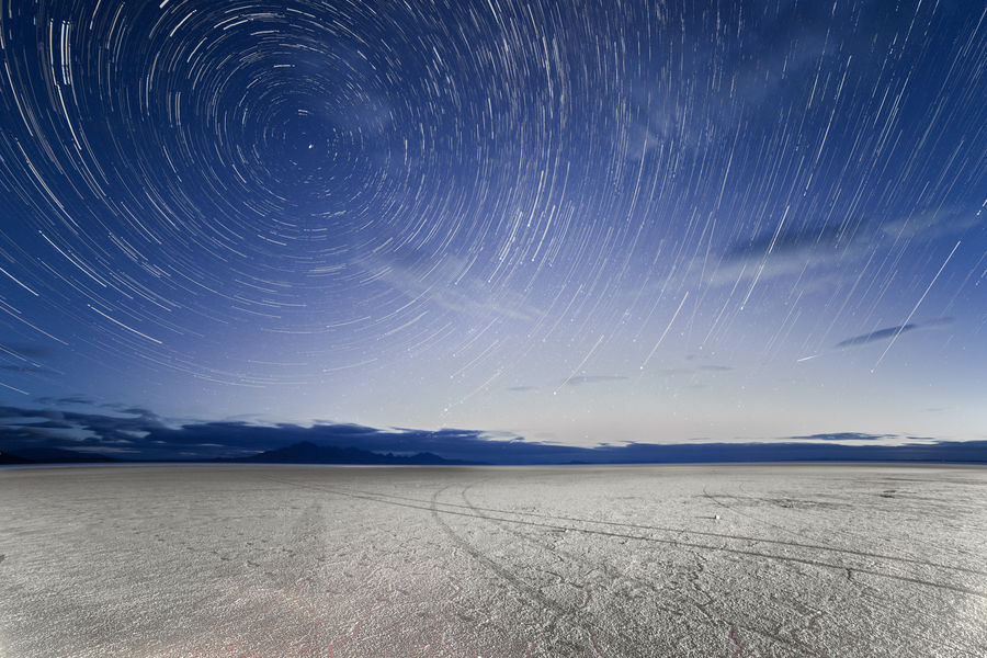 Star Trails over Salt Flats Astronomy Astrophotography Dawn Motion North Star Outdoors Public Land Salt Flats Space Star Star Trails Stars Universe