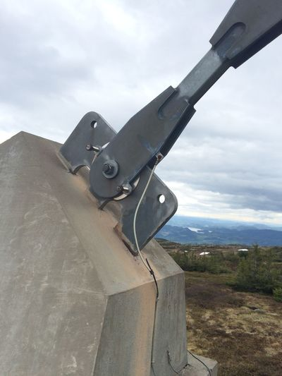 Fastener on mountain Fastener Foundation Fundament Concrete Fastening Fundamental No People Strong Technology