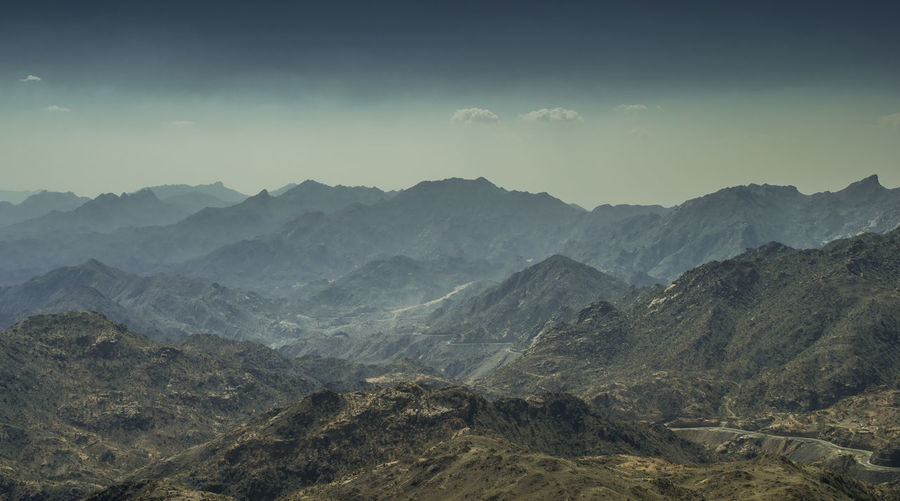 Al Hada mountain range, Taif, Saudi Arabia Jeddah Saudi Arabia Beauty In Nature Day Landscape Mountain Mountain Range Nature No People Outdoors Scenics Sky Taif Tranquil Scene Tranquility