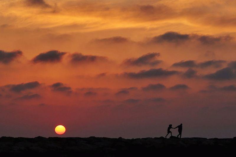 The Great Outdoors - 2017 EyeEm Awards Sunset Silhouette Orange Color Sky Landscape Outdoors EyeEm Week EyeEm Nature Lover EyeEm Best Shots Eyeemphotography Eyeemweek Eyeem4photography EyeEm Silhouette Lost In The Landscape Summer Exploratorium