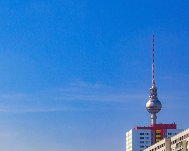 Hidden. FILIPPI GIULIA PHOTOGRAPHY. Architecture Ball Berlin Building Exterior Built Structure Canon City Clear Sky Colors Germany Minimal Minimalism Modern Outdoors Photography Reflection Sky Skyscraper Sun Sunlight Sunshine Tall - High Television Tower Tower Vibrant Color