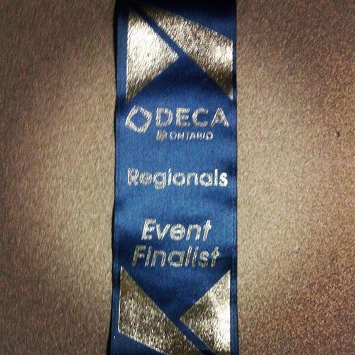 Regionals DECA Regionals School Innisdale ribbon event finalist