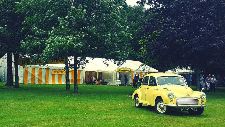 Kent County Show Morris Minor Highway Yellow Vivid Colours  Automobile Vintage Car Classic Weekend Fun EyeEm Best Shots Past Times  Samsung S6