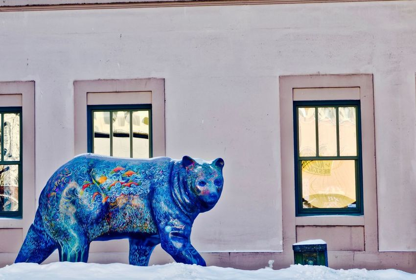Bear City Anchorage Life Animal Themes Architecture Building Exterior Built Structure Day Indoors  No People Painting Public Artwork