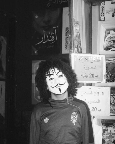 معرض الكتاب2018📷 Mask Joker Books Egypt Cairo Indoors  Adults Only Adult People One Person Night