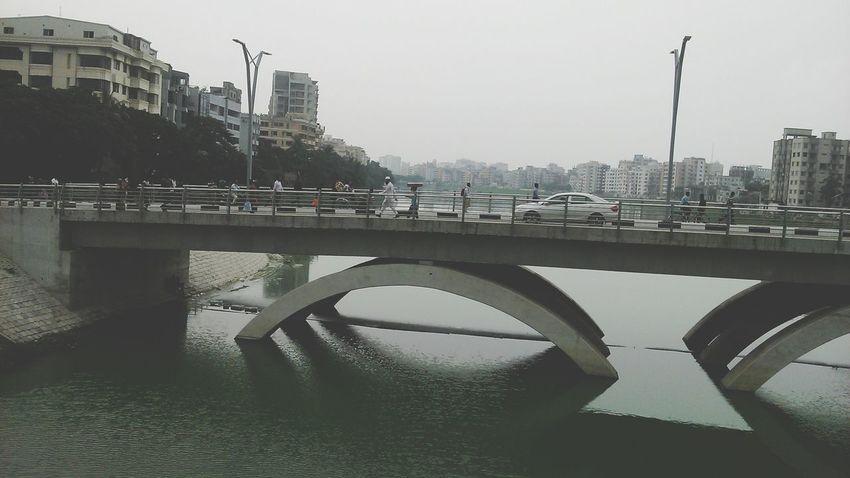 Hatirjheel Bridge Bridge View Riverside Dhaka Bangladesh Alauddin