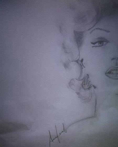 Ritratto Marylin Monroe Ritratto, Portrait Matitabiancoenero Beautiful Woman