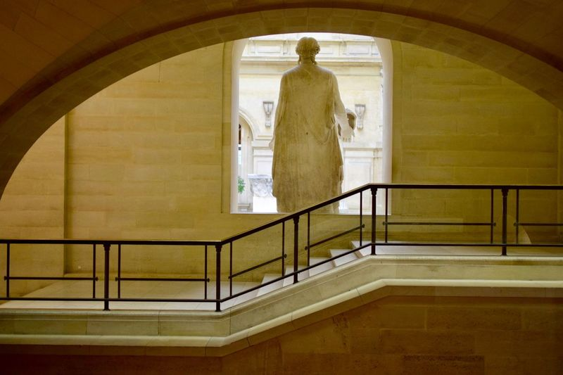 Minimalobsession Minimalist Architecture Minimalistic Minimalism Minimal Architecture Stone - Object Stone Material Behind Statue Architecture_collection Steps Indoors  Railing Staircase Steps And Staircases Human Representation Steps Architecture Built Structure Statue Sculpture No People Hand Rail Day