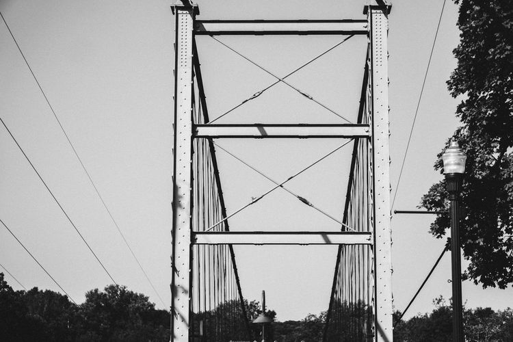 swinging bridge Bridge Tree Architecture Built Structure Cable