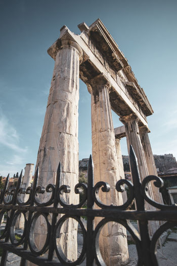 Athens Athens Greece Athens, Greece Architecture Sky Built Structure History Low Angle View The Past Ancient Old Ruin Architectural Column Nature Day Ancient Civilization No People Tourism Travel Destinations Travel Old Damaged Building Exterior Weathered Archaeology Outdoors Ruined Deterioration