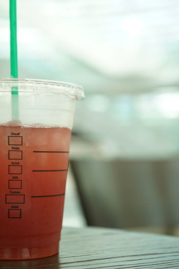 Freshness Juice Close-up Drink Drinking Glass Drinking Straw Focus On Foreground Food And Drink Fresh Freshness Fruit Glass No People Refreshment Starbucks Straw Summer Table EyeEmNewHere