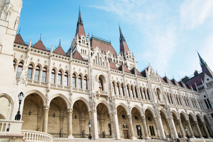 Building Exterior Built Structure Architecture History Sky Arch The Past Low Angle View Travel Destinations Building Day Nature Tourism Travel No People Window Cloud - Sky City Outdoors Façade Spire  Gothic Style Budapest Parlament