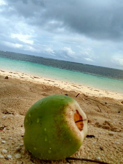 Sea Beach Freshness Water Fruit Sand Sky No People Nature Outdoors Day