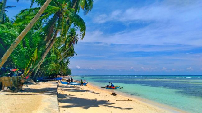 Siquijor Island Siquijorisland Siquijor, Philippines Cloud - Sky Beach Tree Sea Nature Beauty In Nature Incidental People Vacations Tropical Climate Water Travel Destinations Sunny Idyllic Tranquility Tourism Summer Outdoors Sky Blue Sand