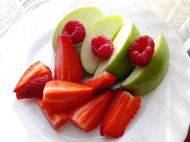 My Favorite Breakfast Moment Fruits Healthy Eating Healthy Food Strawberry Raspberry Apples Natural Beauty No People Fruit Good And Healthy Food Breakfast Love Fruits